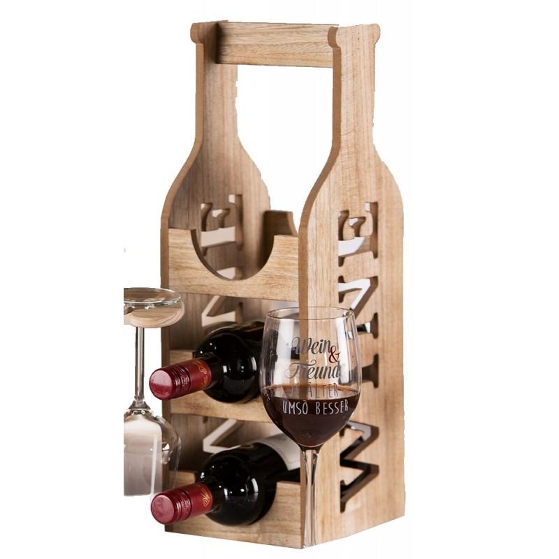 GILDE Weinflaschenhalter Naturholz