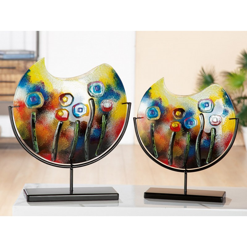 Gilde GlasArt Vase Fresh Flowers 48 cm