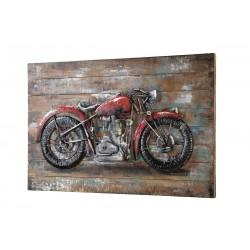 GILDE Metall Bild Red Beast auf Holz 3D 120x80x9 cm