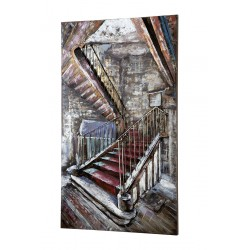 GILDE Metall Bild Mysterious Staircase 3D