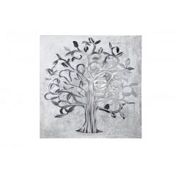 GILDE Gemälde Lebensbaum mit Aluminium Elementen