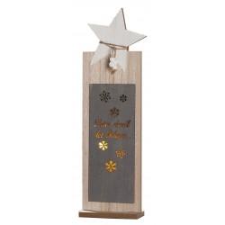 GILDE Dekoständer Stern mit LED Beleuchtung 5x25,5x40 cm