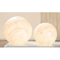 Gilde Lampe Kugel Marbel klein Marmoreffekt