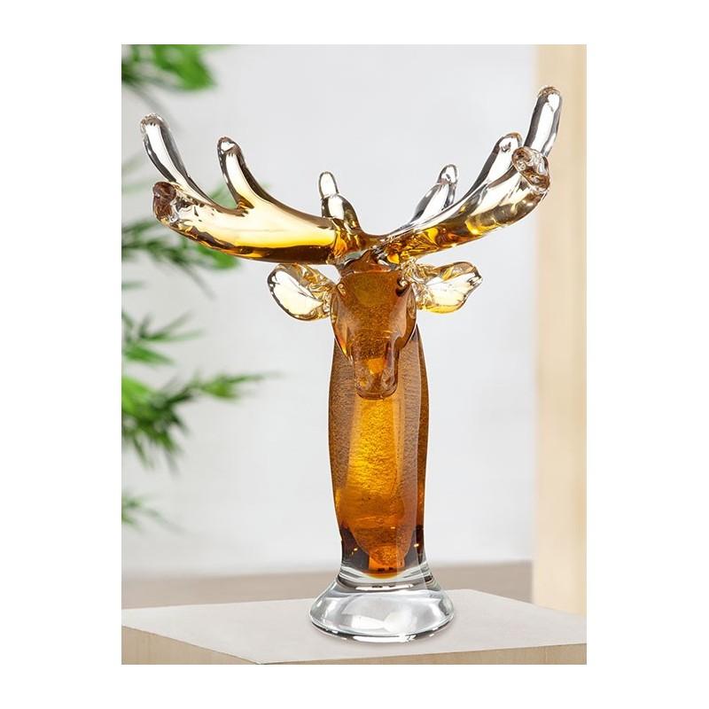 Gilde GlasArt Skulptur Hirschbüste