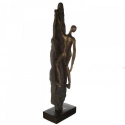Casablanca Skulptur Climber Mann am Felsen