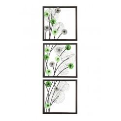 Gilde Metall Wandrelief Blätter Labyrinth 45x45 cm