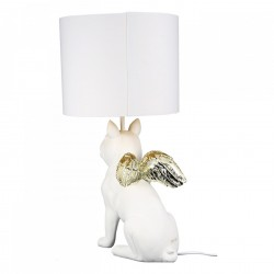 Casablanca Lampe Hund Flying Bulli weiss