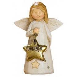 GILDE Dekoschutzengel Weihnachtsengel braun beige gold 3,5x6x8,5cm