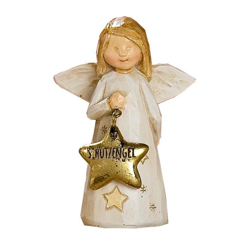 Dekoschutzengel Weihnachtsengel braun beige gold 3,5x6x8,5cm