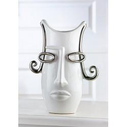 Gilde Vase mit Gesicht Curl