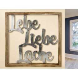 Gilde Rahmen XXL Lebe Liebe Lache