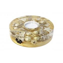 GILDE Dreamlight Teelichtleuchter Saturn Classic Angelo Gold