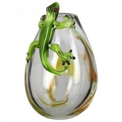 Gilde GlasArt Design Vase Gecko