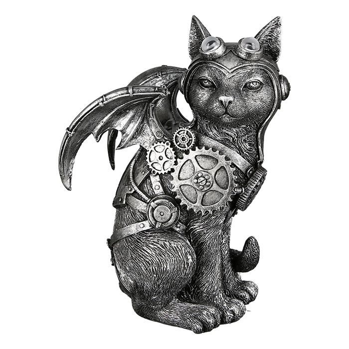 Casablanca Skulptur Steampunk Cat
