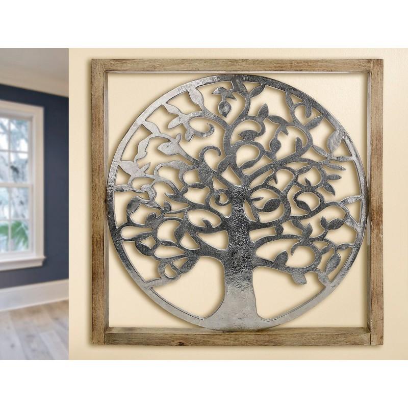 Gilde Rahmen XXL Lebensbaum Mangoholz & Aluminium