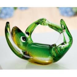 Gilde GlasArt Skulptur Yoga-Frosch liegend