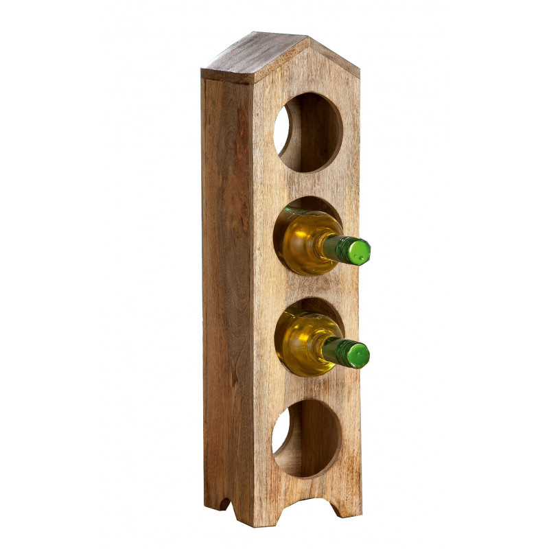 GILDE Flaschenhalter aus Mangoholz naturfarben
