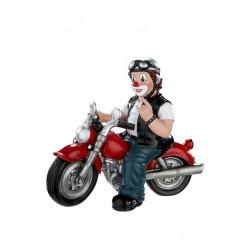 Gilde Clowns Clown Figur Heavy Biker