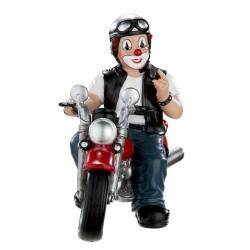 Gilde Clowns Clown Figur Motorrad Heavy Biker