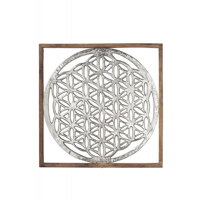 Gilde Rahmen XXL Lebensblume Mangoholz & Aluminium