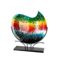 Gilde Glasart Vase Rainbow Dots 47,5 cm