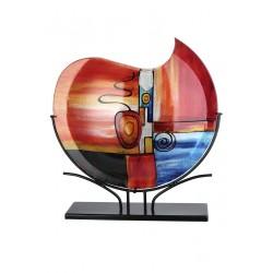 Gilde GlasArt Design Vase New Life