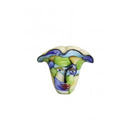 Gilde Glas Art Design Vase Visto grün blau gelb
