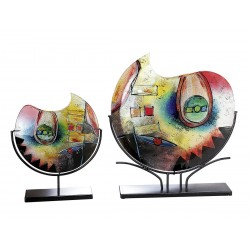 Gilde GlasArt Vase Color Confuso