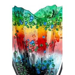 Gilde Glasart Dekovase Rainbow Dots 47cm