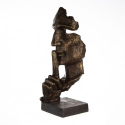 Casablanca Skulptur Silence bronzefarben