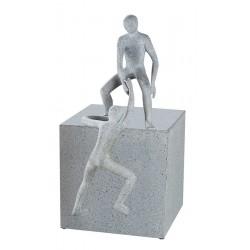 Gilde Skulptur helfende Hand betongrau