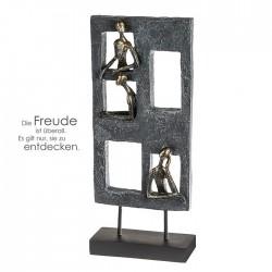 Casablanca Skulptur Lookout Poly grau bronzefarben