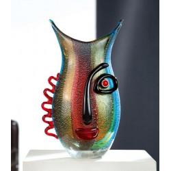 Gilde GlasArt Design Gesichts Vase Vista