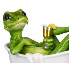 Casablanca Figur Eidechse Lizard in Badewanne mit Cocktail