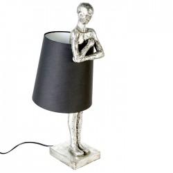 Casablanca Lampe Man silber schwarz