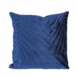 Gilde Kissen Samtblatt dunkelblau