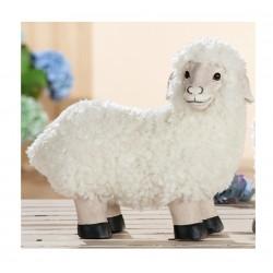 GILDE Dekofigur Schaf stehend mit echt Fell 15x34x29 cm