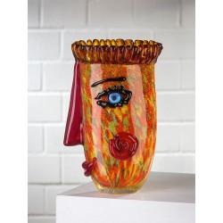 Gilde GlasArt Design Vase Punki