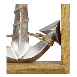 Gilde Anker im Rahmen Mangoholz & Aluminium