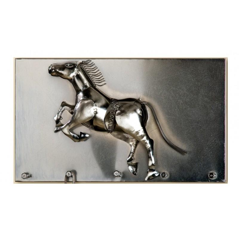 Gilde Schlüsselleiste Pferd 35,5 cm silber