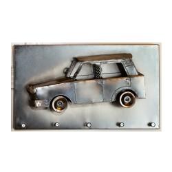 GILDE Schlüsselleiste Auto vernickelt 35,5x20 cm