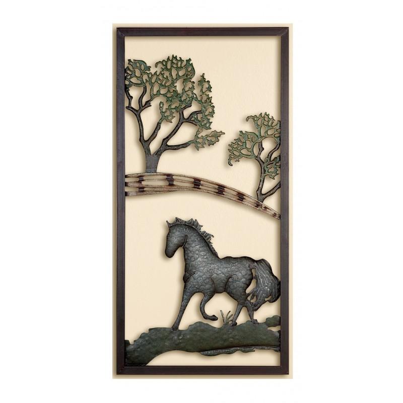 GILDE Wanddeko Pferd auf Koppel 40x80 cm