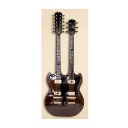 GILDE Wandgarderobe Doppelgitarre Metall schwarz braun gold
