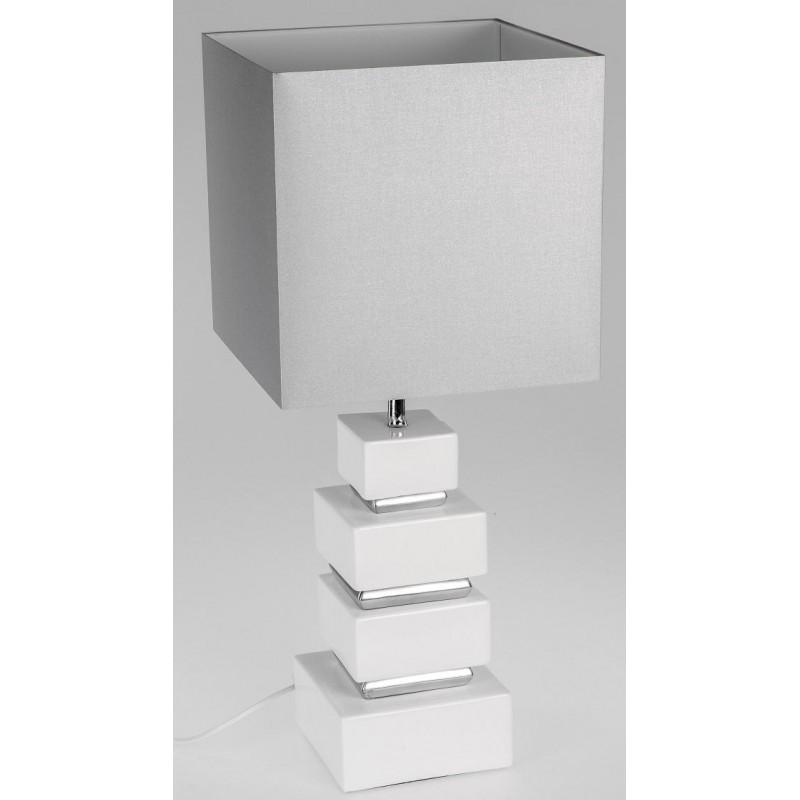 formano Designer Deko Lampe weiß silber 70 cm