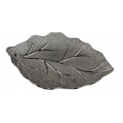 Formano moderne Dekoschale Baum aus Keramik antik silber 38x26 cm