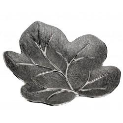 Formano moderne Dekoschale Baum aus Keramik antik silber 26x20 cm