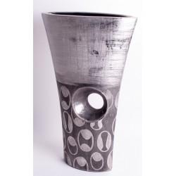 Designer Vase antik silber