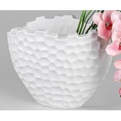 formano Blumenvase Murano oval weiß 38 cm
