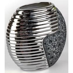 formano edle Blumenvase Stone silber aus Keramik, 20x21 cm