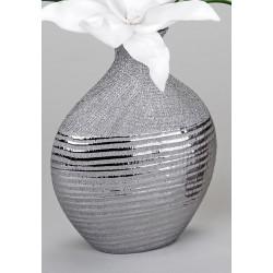 formano edle Blumenvase mit Silberstreifen, 18x25  cm